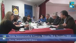 Sesión Autoconvocada de Concejo, Miércoles 05 Diciembre 2018