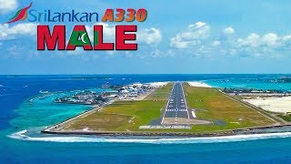 Pilotsview Airbus A330 into MALE Airport MALDIVES