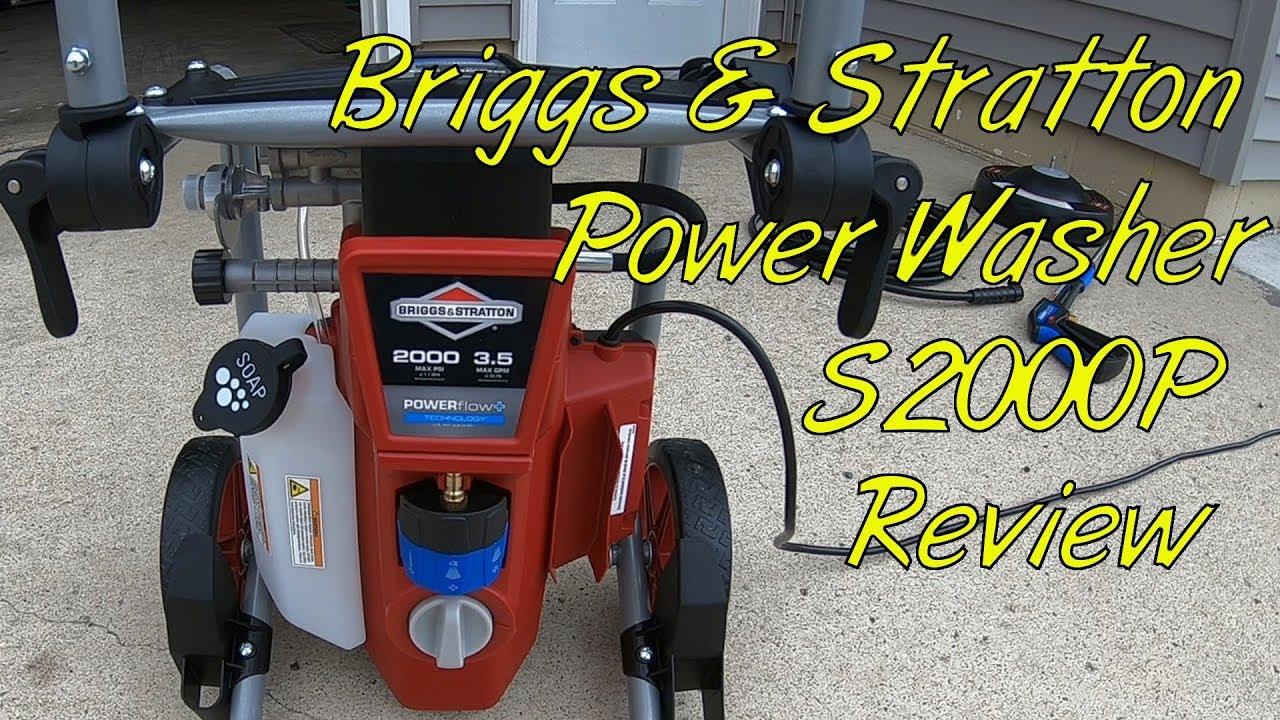Briggs Stratton S2000p Pressure Washer Review Youtube