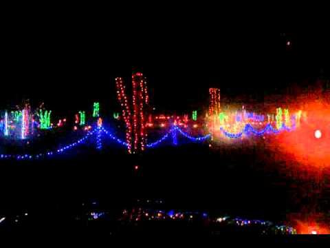 Christmas light show yogi bear park Nashville Tn. - YouTube