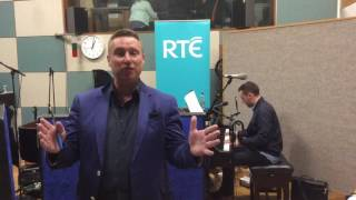 Shay Byrne behind the scenes of Irish Country Music Awards