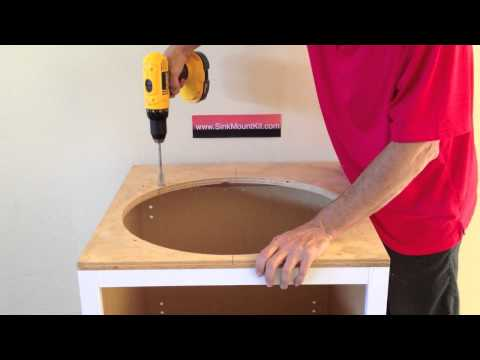 How to install undermount sinks
