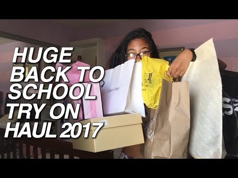 BACK TO SCHOOL TRY ON CLOTHING HAUL 2017! | UO, Forever 21, VS, CK + More!
