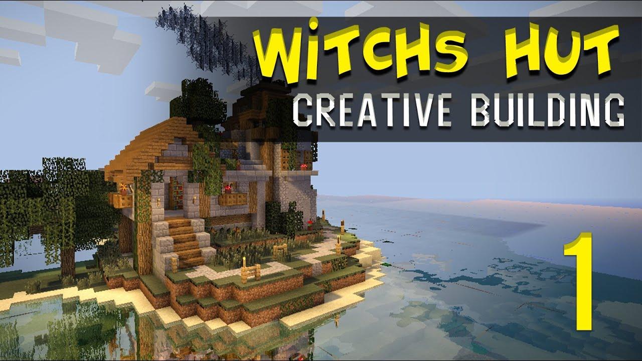 Minecraft Creative Build: Witch's Hut /w Brewing Tower - Part 1