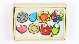 Miniature Pokemon Badge (미니어처 포켓몬 배지) KANTO Region Tutorial (만들기)