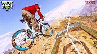GTA 5 - SLAP A BIKE!! - Insane Windmill Bicycle-Launching Race (GTA 5 Funny Moments)