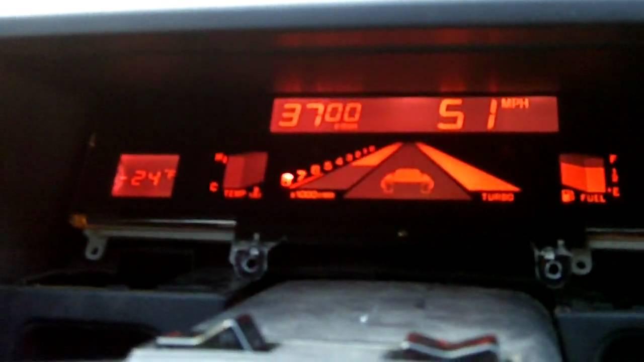 Red Digidash In 89 Subaru Xt 6 Youtube