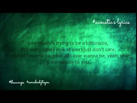 The Vamps - Somebody To You ( acoustic version lyrics )