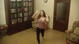 Малахова Елена, танец похожий на контемп, 2, тренировка дома
