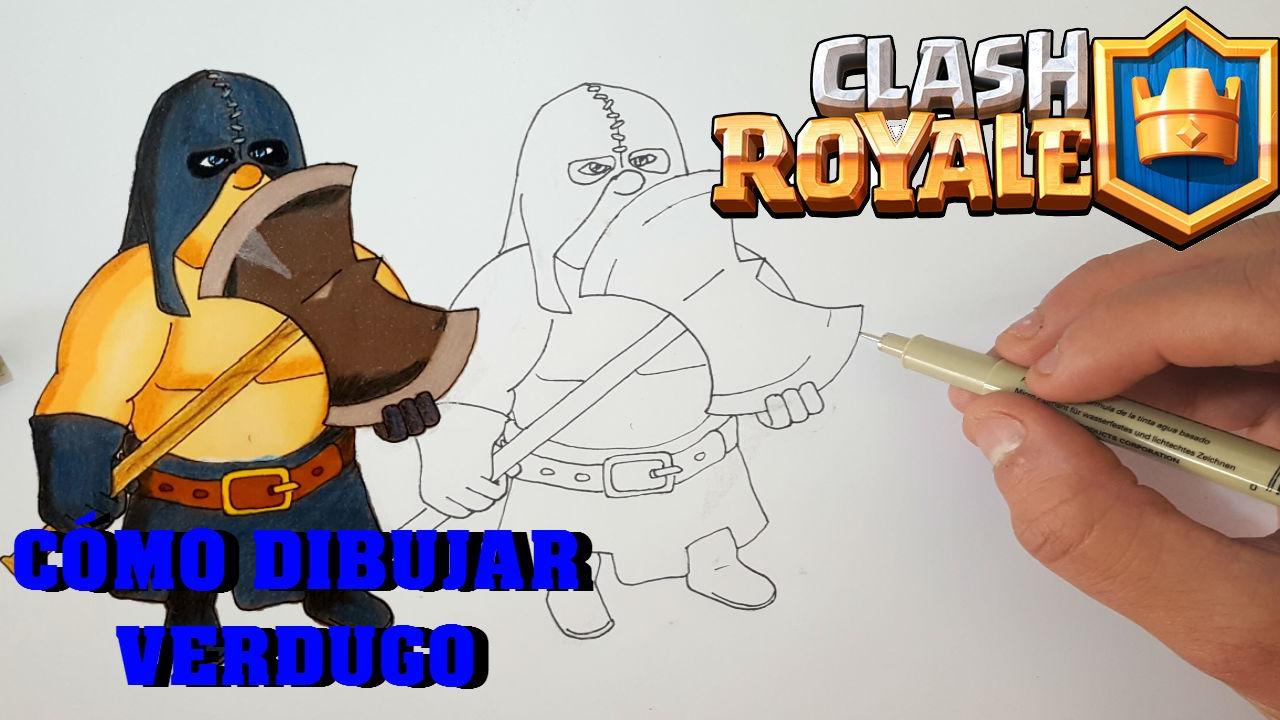 Dibujos Para Dibujar De Clash Royale: Cómo Dibujar Al VERDUGO(Clash Royale)-MagicBocetos