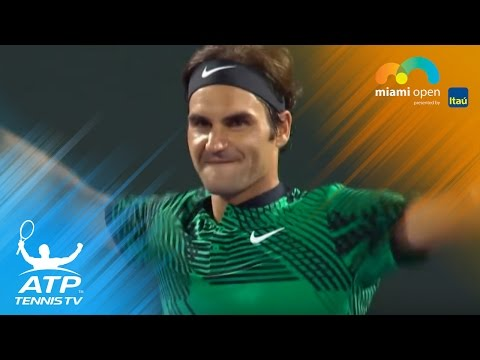 Federer v Kyrgios: The best shots | Miami Open 2017