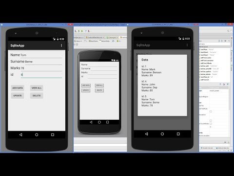 Android SQLite Tutorial | Android CRUD Tutorial With SQLite (Create, Read, Update, Delete)