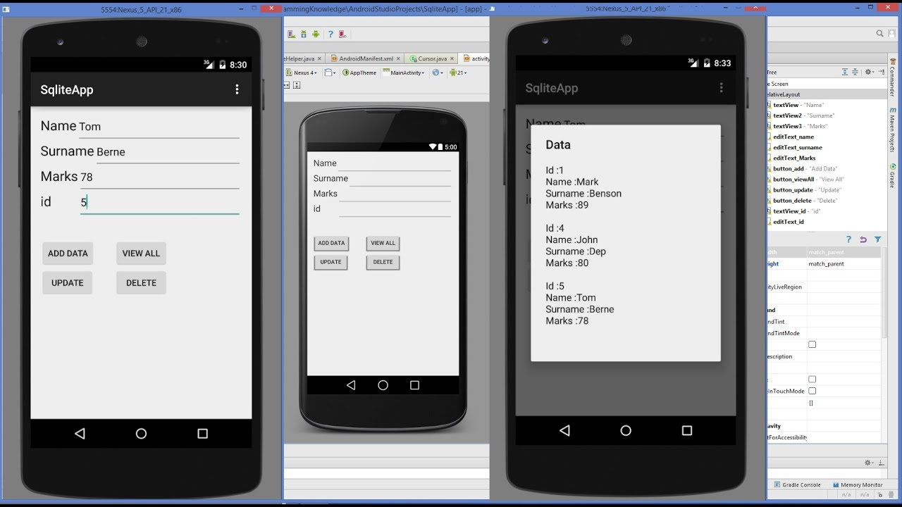 Android SQLite Tutorial   Android CRUD Tutorial with SQLite (Create, Read, Update, Delete)