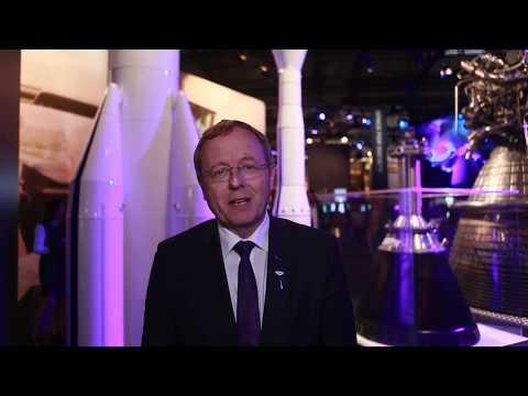 Jan Woerner auf der ILA Berlin 2018 im Space Pavilion