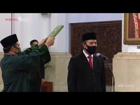 Pelantikan Kepala Badan Nasional Penanggulangan Terorisme, Istana Negara, 6 Mei 2020из YouTube · Длительность: 6 мин58 с