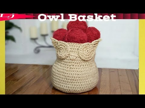 Crochet Basket – How to crochet an owl basket