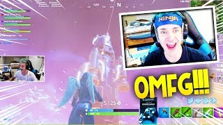 NINJA REACTS TO THE FORTNITE ROCKET LAUNCH [WITH 450.000 PEOPLE] - FORTNITE FUNNY AND WTF MOMENTS
