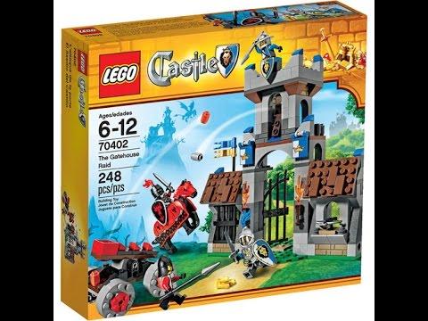 Lego Castle Review Set 70402 Gatehouse Raid Youtube