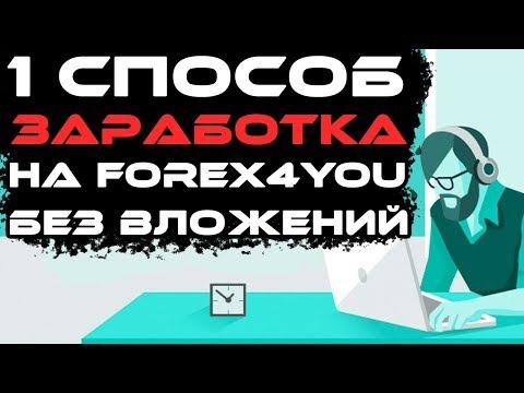 Заработок на Форекс брокере Forex4you через партнерскую программу. Без вложений