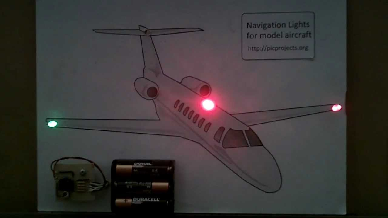 Navigation Lights For Model Aircraft Boats Etc Youtube