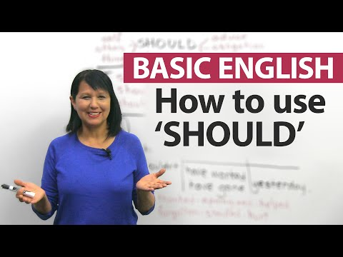 How to use the modal SHOULD in English