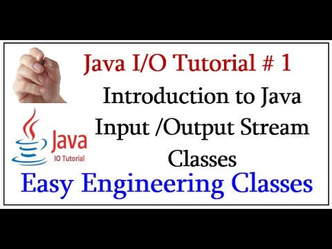 java-i/o-tutorial-#-1---introduction-to-java-input-/output-stream-classes
