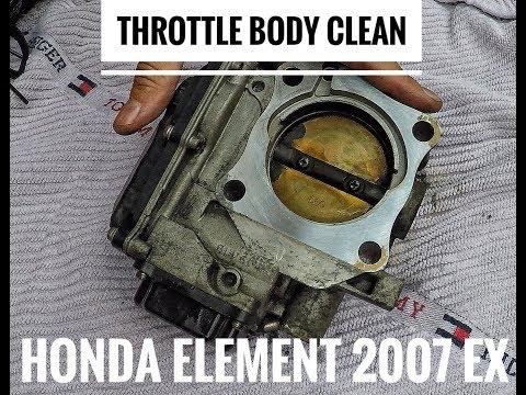 Honda Element 2007 EX Throttle Body Cleaning