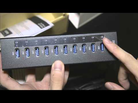 Orico A3H10 (10 Port Powered USB 3.0 Hub) Unboxing & Review