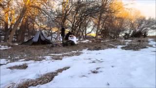 Solo Winter Overnight Bushcraft | Nebraska - Feb 1st