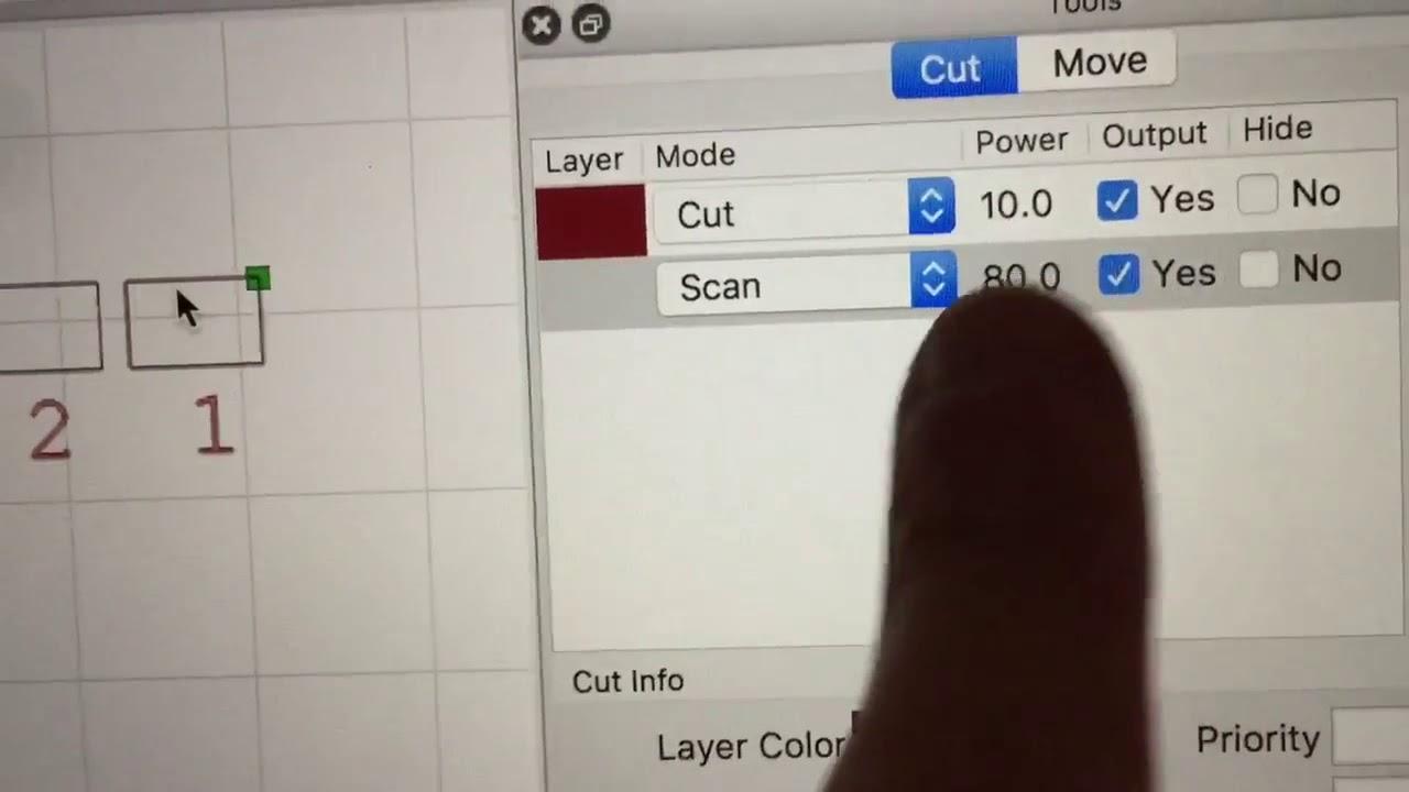 LightBurn demo - Power Scaling feature