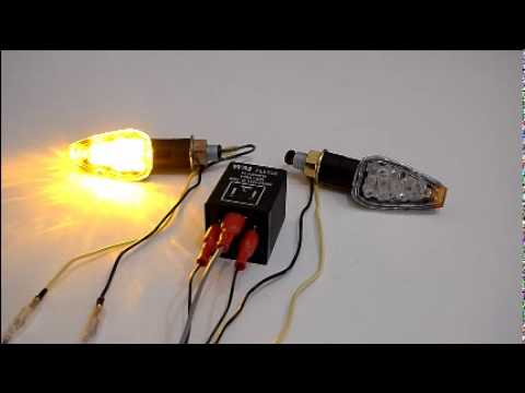 Motorcycle LED Turn Signal Light with Electronic Signal Relay - YouTube