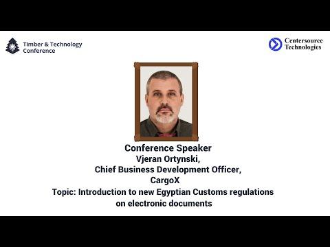 Advance Cargo Information in Egypt. CargoX insight for the exporters- Vjeran Ortynski, CargoX