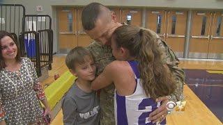 Soldier Surprise At Keller School