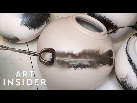 Potter Smokes Feathers and Hair Into Ceramics
