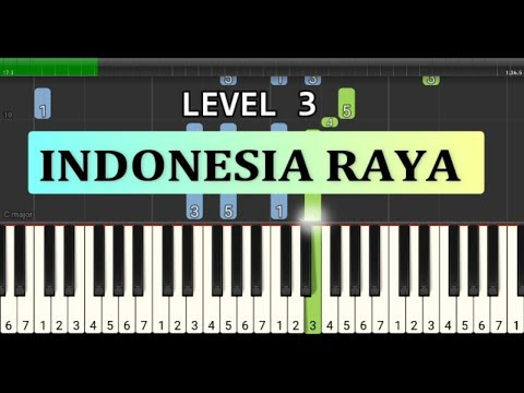 not piano indonesia raya - lagu wajib nasional - tutorial level 3