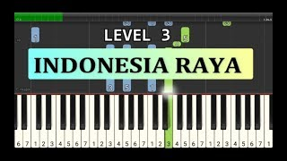 not piano indonesia raya - lagu wajib nasional - tutorial level 3
