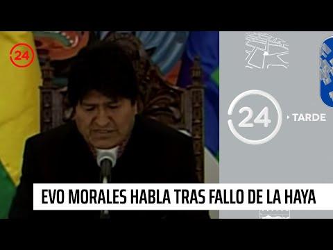 """Evo Morales tras fallo de la CIJ: """"Enviaré una carta demostrando contradicciones"""""""