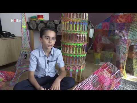Atbin (10) bouwt kunstwerken met 3D pen - JEUGDJOURNAAL