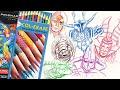 Prismacolor col-erase review & comparison erasable pencil colour first impressions
