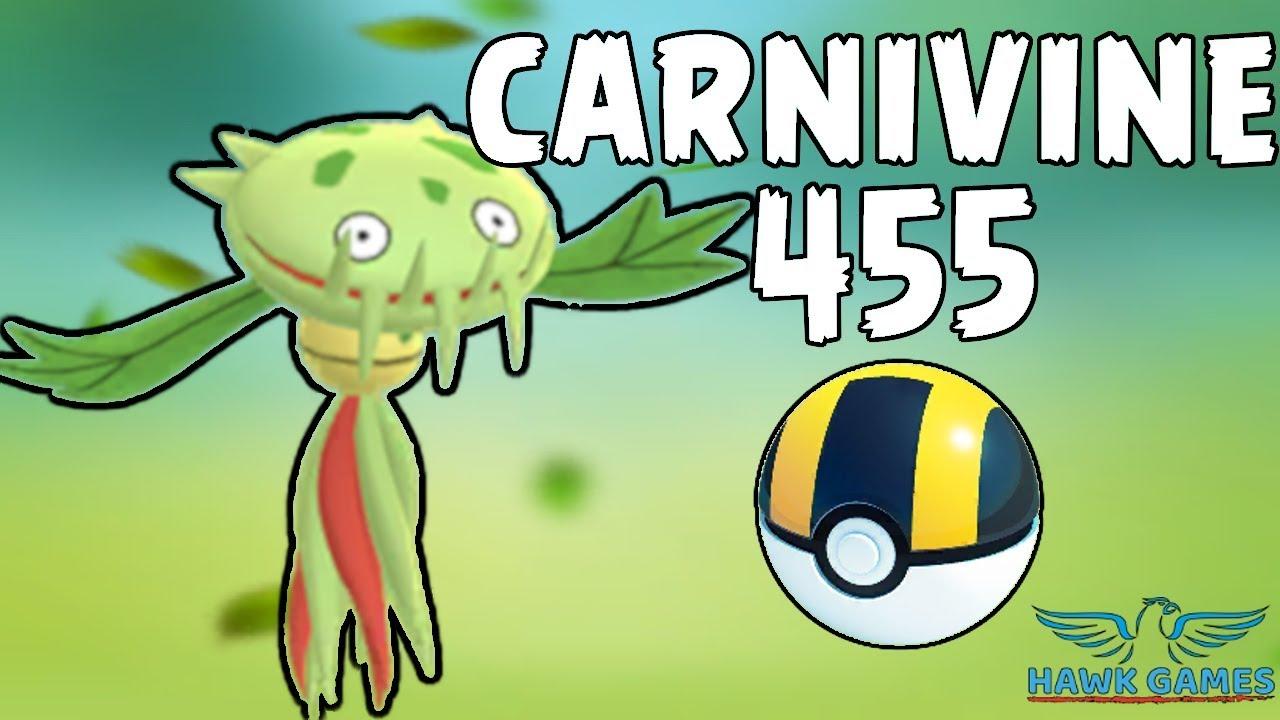Carnivine caught - Generation 4 Pokedex 455 - Pokemon GO [No Hack] Where to  find!