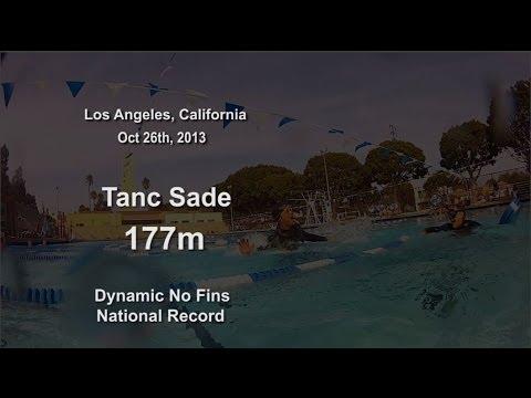 Tanc Sade: 177m National Record Dynamic No Fins