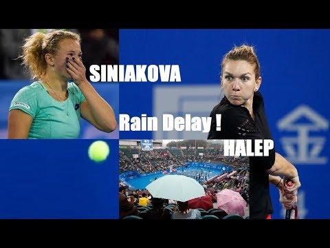 RAIN DELAY! Simona HALEP (ROU) vs Katerina Siniakova (CZE) 🎾 2018 Shenzhen Open, Final