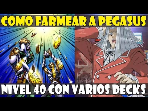 COMO FARMEAR A PEGASUS NIVEL 40 CON 3 DECKS DISTINTOS - DUEL LINKS