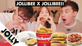 jollibie tries the whole jollibee menu for the first time
