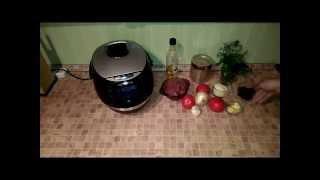 Домашние видео рецепты - макароны с фаршем и томатами в мультиварке