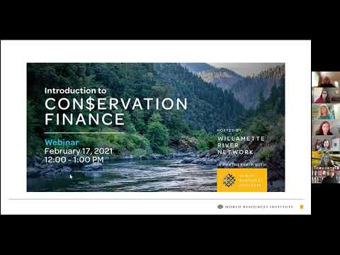 Introduction to Conservation Finance