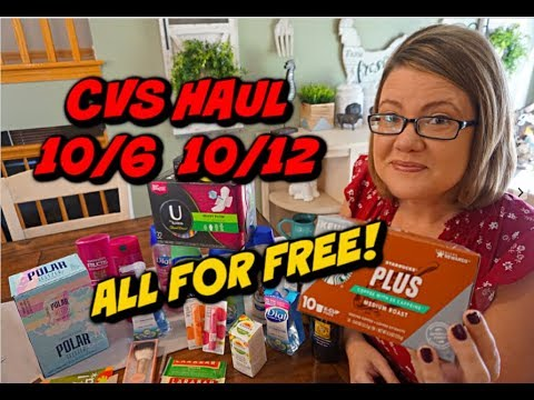 CVS HAUL 10/6 – 10/12 | 24 ITEMS FOR FREE!!  🙌