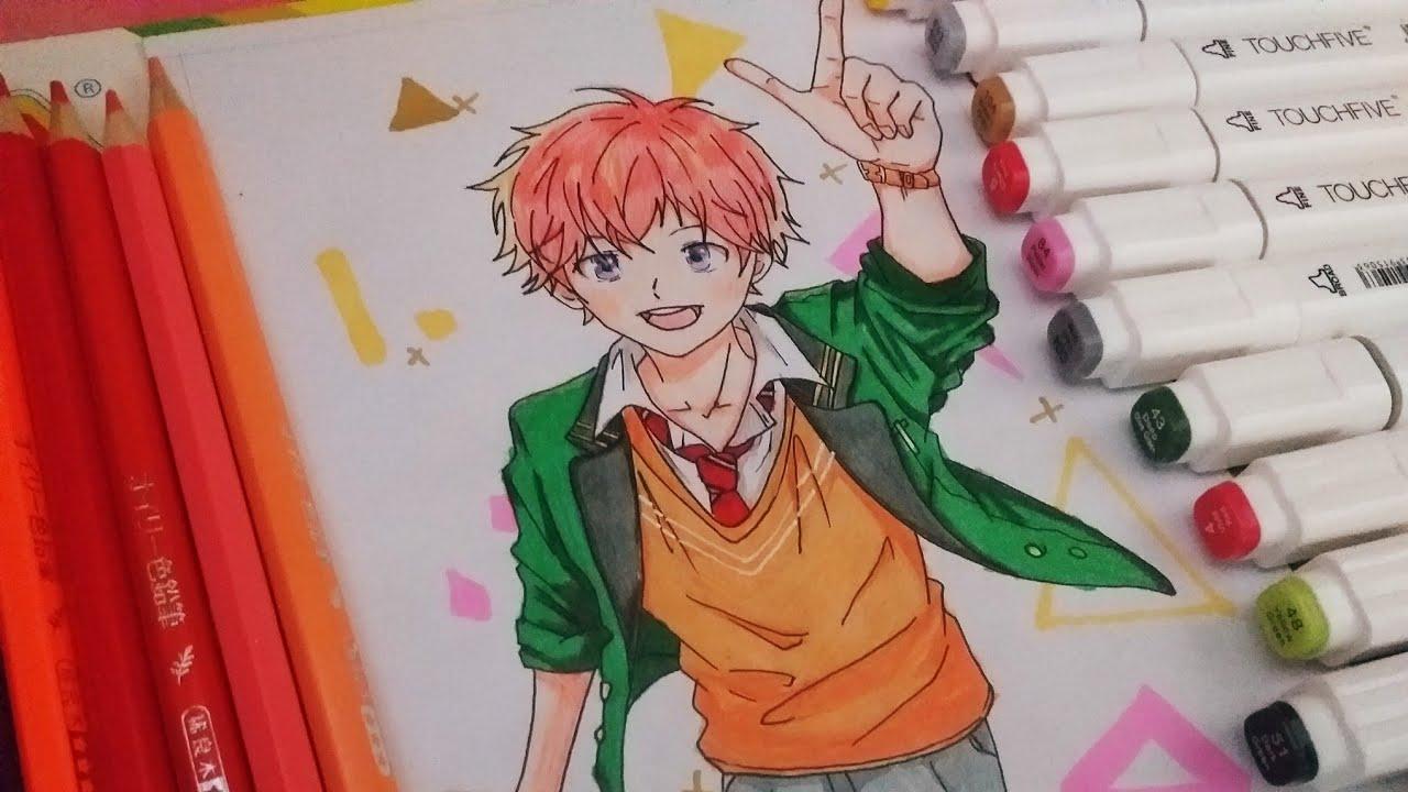 Vẽ anime boy dễ thương-how to draw anime boy cute