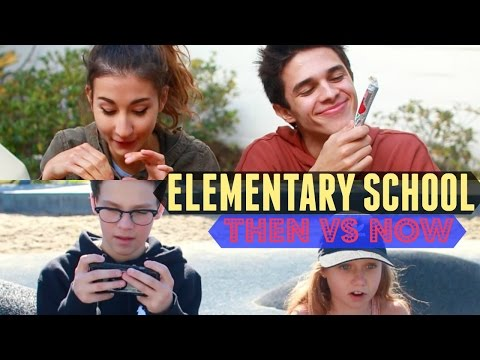 Elementary School Then VS Now (w/ Meg DeAngelis) | Brent Rivera