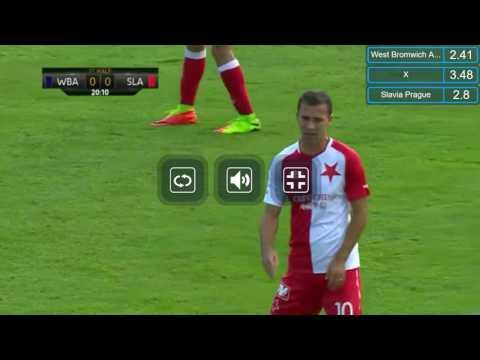 ZÁZNAM: SK Slavia Praha 2-1 West Bromwich Albion